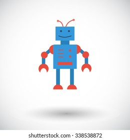 Robot toy icon. Flat related icon for web and mobile applications. It can be used as - logo, pictogram, icon, infographic element. Illustration.