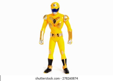 Robot Toys Yellow and white background