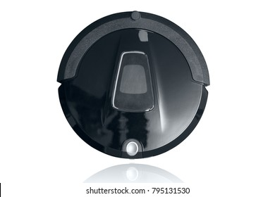 Robot vacuum cleaner autumate clean floor machine isolated on white with clipping path
