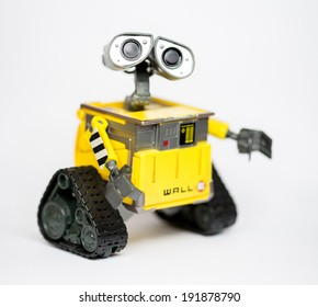 Robot Wall-E from Pixar and Disney Movie, 8 May 2014, in my studio, Povoa de Lanhoso