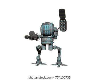 Roboter 3D rendering