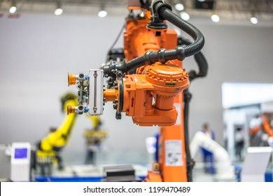 Robotic Arm Industrial Manufacture Factory Stock Photo (Edit Now