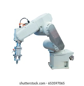 robotic arm for industry isolated on white