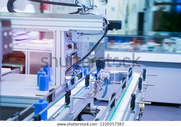 Robotic Automation System Control Application On Stock Photo