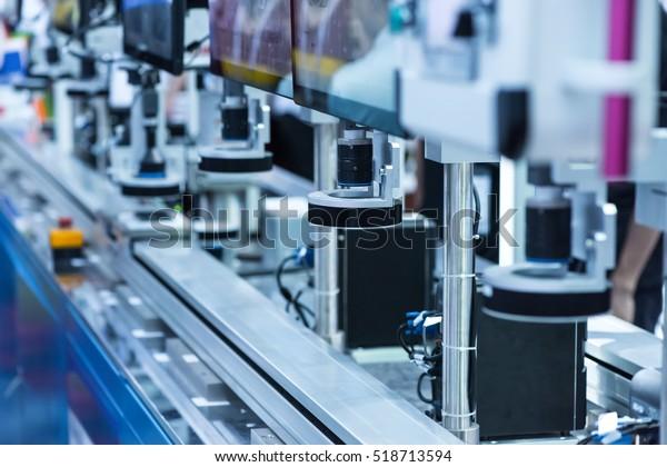 Robotermaschinensichtsystem in der Telefonfabrik