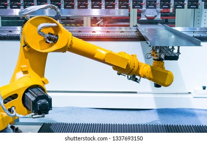 robotic pneumatic piston sucker unit on industrial machine, automation compressed air factory production