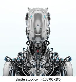 Robotic upper body, 3d illustration