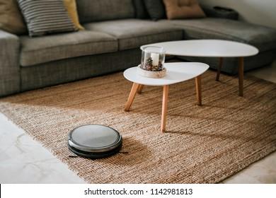 robotic vacuum cleaner on the floor