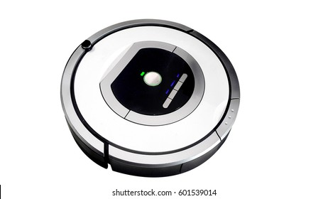robotic vacuum cleaner smart cleaning technology isolated