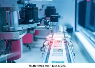 Robotic vision sensor camera system in intellegence pcb factory