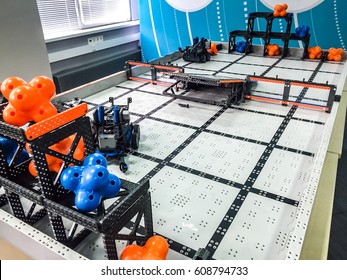 Robotics Competition Different Robots Collection Presented Stock