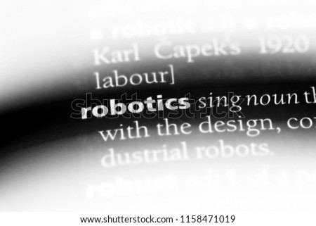 Robotics Word Dictionary Robotics Concept Stock Photo Edit Now
