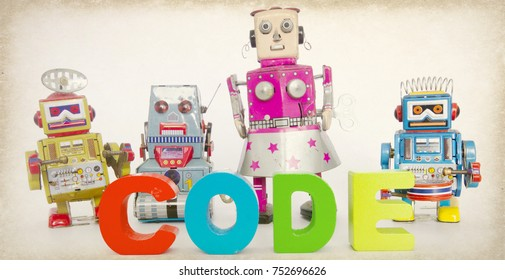 robots and the word CODE