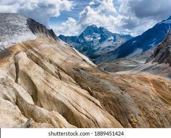 Roc du Soufre in Vanoise national park of french alps, France