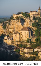 Rocamadour village a picturesque unesco world heritage site in france at sunrise, Europe