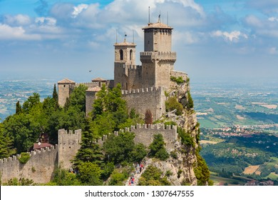 Rocca della Guaita, the most ancient fortress of San Marino, is the oldest of the three towers of San Marino