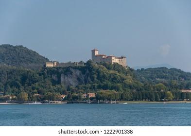 Rocca di Angera, view from the lake Maggiore, Italy