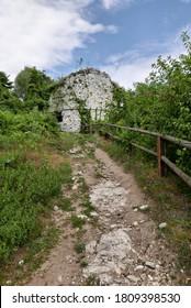 Rocca di Arona, Fortress ruins in Arona, Italy