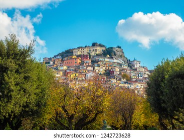 Rocca di Papa (Italy) - A nice little, old and panoramic city in the metropolitan city of Rome, on the Mount Cavo. Here a view of historic center.