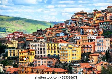 Rocca di Papa, a small italian town on Alban Hills, one of Castelli Romani, Rome province, Lazio, Italy