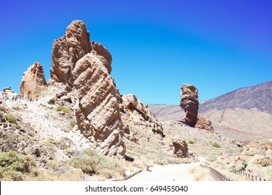 Roces de Gracia, valley of volcan Teide, Tenerife island, Spain
