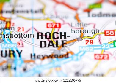 Rochdale. United Kingdom on a map