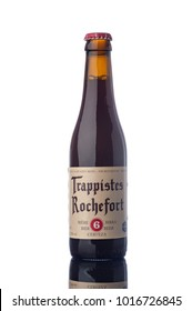 "Rochefort 6 Trappist Beer Bottle Isolated White Background  ""illustrative editorial"""