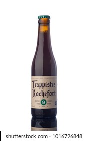 "Rochefort 8 Trappist Beer Bottle Isolated White Background  ""illustrative editorial"""