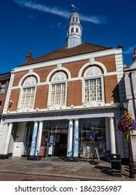 ROCHESTER, KENT, UK - 09.13.2019:   Exterior view of the Huguenot Museum in the High Street