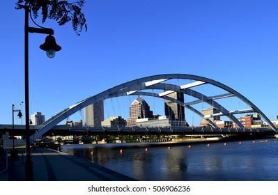 Rochester NY Bridge from Corn Hill