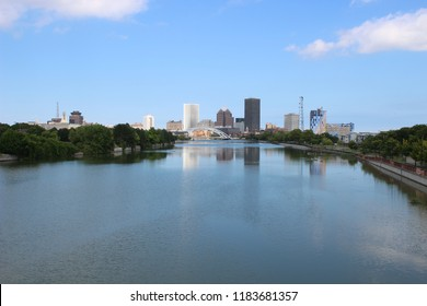 Rochester NY, skyline on a summer day