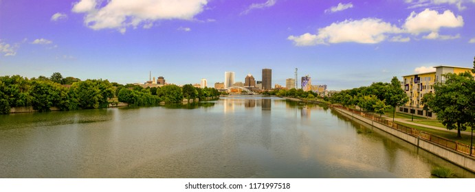 Rochester NY Skyline, Panoramic format