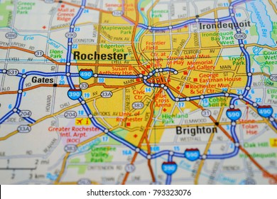 Rochester on USA map