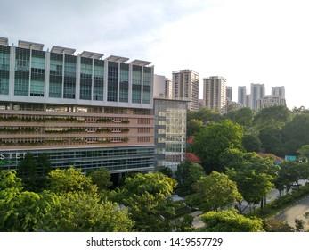 Rochester, Singapore – June 8 2019: Rochester Mall, opposite Star Vista. Green city living.