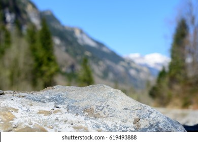 Rock in alps is Mountains of Switzerland in Summer