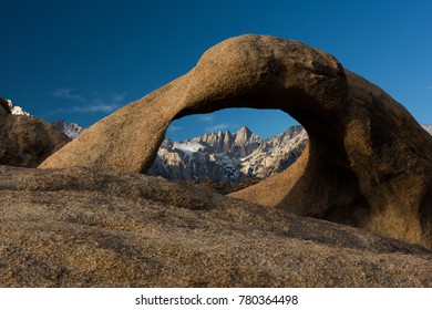 Rock Arch in the Sierra Nevada and Mount Whitney