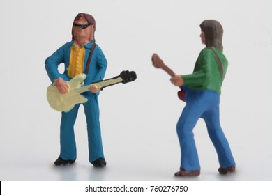 rock band miniature figurines