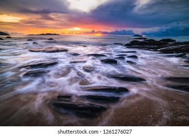 Rock beach Phuket Thailand