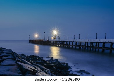 Rock beach or Pondicherry Beach is the popular stretch of beachfront with rocks in the city of Puducherry along the Bay of Bengal. It is one of the long stretch in Pondicherry.
