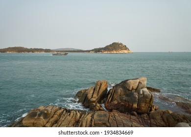 Rock beach and Sea Island