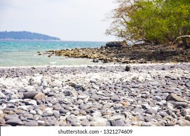 Rock beach and sea view from Lipe island, Satun province, Thailand