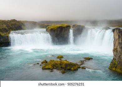 Rock below a waterfall in Iceland