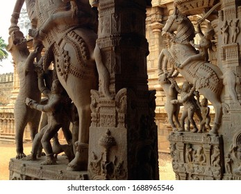 Rock Carved Architecture - old hindu temple from South India