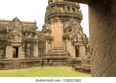 Rock Castle in Thailand ;  The Khmer Temple Ruins of the Phimai Historical park at the Phimai Festival in the Town of Phimai in the Provinz Nakhon Ratchasima in Isan in Thailand. Thailand, Phimai, jul