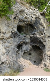"""Rock Cave """"Devil's Kitchen"""" on the Mackinac Island"""