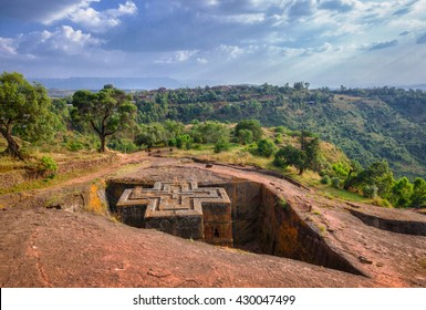 Rock Church of St. George in Lalibela. Ethiopia