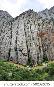 Rock cliff on the mountain