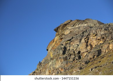 Rock cliff at the valley Karkevagge in Northern Sweden.