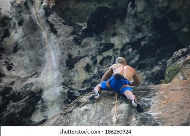rock climbing in Railay - Krabi, Thailand