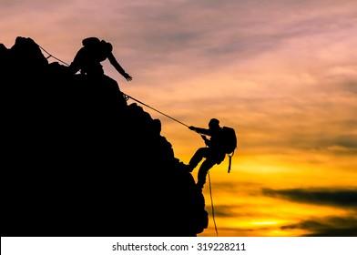 rock climbing, rope climbing